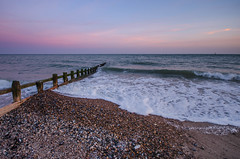 Dusk Colours (D1g1tal Eye) Tags: sunset sea sky beach water evening coast nikon dusk sigma wave 1020mm groyne d7000