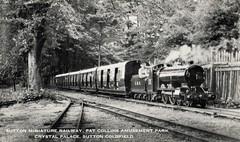 Sutton Miniature Railway, Sutton Coldfield (trainsandstuff) Tags: vintage postcard suttoncoldfield amusementpark crystalpalace suttonpark miniaturerailway patcollins