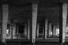 Heavy Weight (trm42) Tags: bridge roof blackandwhite bw suomi finland concrete helsinki under mustavalko mv contrasty malmi