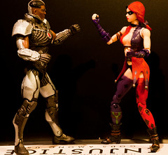 Cyborg vs Harley Quinn (atari_warlord) Tags: actionfigure cyborg injustice harleyquinn 375 dcdirect injusticegodsamongus