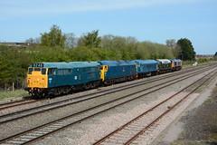 Heritage Convoy. Swindon, 04-05-2016 (*Steve King*) Tags: st bristol day open phillips swindon junction marsh gala convoy swanage highworth 31162 40013 46045 50035 66757
