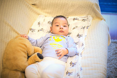 Portrait of baby (HIKARU Pan) Tags: china boy portrait baby cute horizontal photography asia shanghai chinese indoors lovely 50l 1dx canonef50mmf12lusm eos1dx