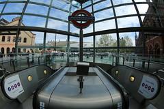 St Pancras (7) (Eugene Regis) Tags: london station camden fisheye trainstation kingscross stpancras fisheyelens railstation saintpancras stpancrasinternational