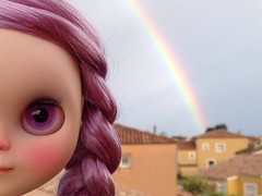 The new girl and the rainbow (Mimsy bear) Tags: blythe custom ginny tct tinycutethings