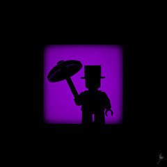 Shadow (178/100) - Penguin (Ballou34) Tags: light shadow canon comics toy toys photography eos rebel penguin blackwhite dc flickr lego stuck plastic batman dccomics photgraphy minifigure afol 2016 2015 minifigures toyphotography 650d t4i eos650d legography rebelt4i legographer stuckinplastic ballou34 enevucube 100shadows