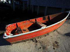 Rockport Rowboat (Professor Bop) Tags: red professorbop drjazz olympusem1 rockportmassachusetts water rowboat mosca