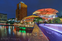 Clarke Quay Singapore (spintheday) Tags: lighting travel sunset food holiday reflection night singapore asia colourful resturant boatride clarkequay singaporeriver riversidepoint centralmall sonya6000 sonye1670mmf4zaoss
