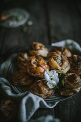 Salted Swedish Cardamom Buns by Eva Kosmas Flores | Adventures in Cooking (Eva Kosmas Flores) Tags: bread recipe dessert sweet cinnamon sticky salt swedish salty buns pastry rolls yeast cardamom salted