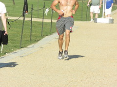 IMG_0731 (FOTOSinDC) Tags: shirtless hairy man muscles back arms arm legs candid chest leg handsome running sweaty sweat guns jogging runner jogger