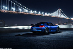 Porsche GT4 for Avant Garde Wheels (Richard.Le) Tags: sf lighting bridge blue light ice painting island photography bay san francisco treasure sony wheels automotive le commercial richard porsche ag area cayman westcott rare coupe avant garde forged sapphire gt4 blacklist a7rii