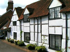 Shere Cottage, Surrey, England (Amethinah) Tags: uk greatbritain england unitedkingdom cottage surrey halftimbered 2007 shere