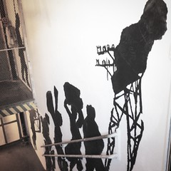 WilliamKentridge on #MoMA #PS1 #stairwell... (AndersonAndersonArchitecture) Tags: newyork art silhouette drawing space great moma stairwell ps1 immersive experience longislandcity williamkentridge humanfigure momaps1 stairclimbing uploaded:by=flickstagram instagram:venue=25614600 instagram:venuename=momaps1 instagram:photo=8514810927815912061287363409