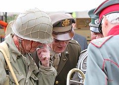 Haworth 1940's Weekend 2016 -  KV8A9005 (grab a shot) Tags: uk england people man men canon vintage soldier army outdoors eos war uniform military yorkshire wwii 1940s german ww2 airborne reenactment westyorkshire homefront worldwar2 oldfashioned usarmy haworth livinghistory 2016 101stairbornedivision screamingeagles warweekend brontecountry haworth1940sweekend 7dmarkii