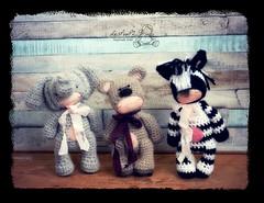 The Menagerie (Les PouPZ) Tags: animals toys handmade waldorf crochetdolls amigurumidolls slowcraft naturalfiberdoll