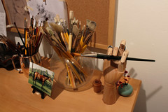 Brushes (skipmoore) Tags: artist brushes sausalito icb winteropenstudios