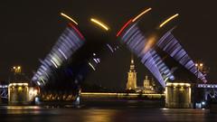 Дворцовый мост (rubalanceman) Tags: city bridge night russia saintpetersburg spb ночь питер россия санктпетербург мост спб