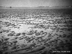 Au bout de la plage (JEAN PAUL TALIMI) Tags: ocean texture nature statue vent solitude noir noiretblanc dune sable deux vague silouettes ombres landes touristes sudouest biscarrosse talimi