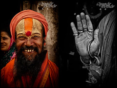 Swami Jaganath jwala Muki (Its Me Jegan) Tags: travel orange india closeup nikon photojournalism streetlife oldman expressive nikkor idols sadhu kolkatta 18200mm nikond200