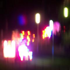 Coloured lights can hypnotize... (Will S.) Tags: mypics night santaclausparade kingston ontario canada nighttime afterdark dark christmas xmas noel weihnacht