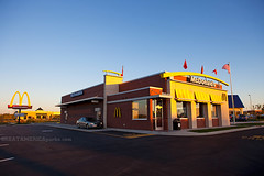 new McDonald's on opening day (ezeiza) Tags: food oklahoma sign restaurant drive golden fastfood fast arches mcdonalds drivethru through ok drivethrough goldenarches thru glenpool