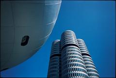 Munich #6 (Thomas (dk-photoblog.com)) Tags: leica sky tower film analog zeiss germany munich münchen t bayern deutschland bavaria fuji himmel rangefinder slide dia bmw 28 analogue blau provia hochhaus musem m7 welt olympiapark 21mm 100f biogon zm rdpiii messsucher