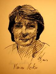Portrait Marion Lokin (Sketchmanni) Tags: party portrait pencil ink sketch julia drawing emma kay sketchbook doodle manuel bild tinte scribble bleistift grote moleskin zeichnung manni jkpp moeskinerie