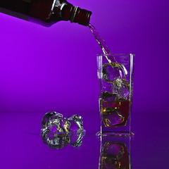 is it Friday already? (emershot) Tags: ice water glass canon bottle drink poland cube splash friday nuggets liquid strobist emershot