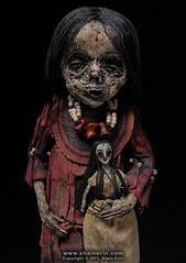 Mummy Art Doll Sculpture – M41 (Shain Erin) Tags: sculpture art mixedmedia ooak fineart tribal artdoll mummy oddity mummydoll worldart shainerin