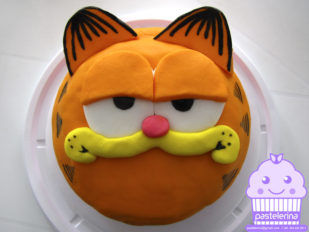 Garfield Birthday Cake And Cupcakes