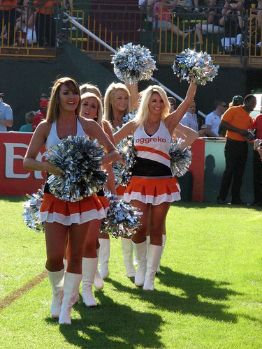 'Aggreko' Cheerleaders at the IRB 2011 Dubai Rugby 7s