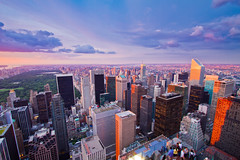 Central Park and Midtown East from Top of the Rock (RBudhu) Tags: newyorkcity sunset skyline cityscape centralpark upperwestside gothamist topoftherock uppereastside 30rock bloombergtower gebuilding trumpworldtower citigroupcenter midtowneast newyorkpanorama exxonbuilding axacenter cityspirecenter