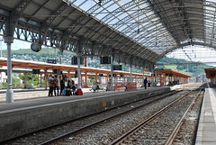 Leaving soon . . . . (diamonds_in_the_soles_of_her_shoes) Tags: france trainstation lourdes