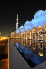 Sheikh Zayed Grand Mosque! (Saad Al-Enezi) Tags: sky water night reflections lights nikon minaret grand mosque zayed abudhabi dome sheikh unitedarabemirates d300 sheikhzayedgrandmosque saadalenezi