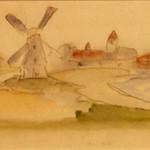 "<b>Amdek</b><br/> Frans Wildenhain ""Amdek"" Watercolor, n.d. LFAC #501<a href=""http://farm8.static.flickr.com/7029/6466264859_0167f42c11_o.jpg"" title=""High res"">∝</a>"