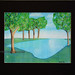 The Calm by Brandi K., Watercolor, SOLD, 20 x 17 w matte