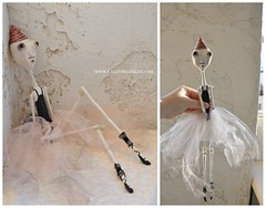 Francis (LaceyMichelle1) Tags: weird ballerina ooak partyhat artdoll dragqueen tutu balletshoes boydoll paperclay laceymichelle