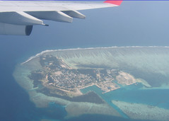 Maldives aerial view (WlNGS) Tags: ocean sea island hotel boat yacht indianocean aerialview maldives airbusa340 srilankanairlines