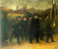 Reti, Istvan (1872-1945) - 1899 Funeral of a Homeguard (Hungarian National Gallery, Budapest) (RasMarley) Tags: group 19thcentury painter genre realism hungarian 1890s 1899 reti publiccollection istvanreti funeralofahomeguard