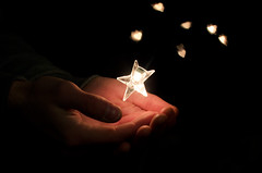 Week Thirteen (Lukas Leonte) Tags: light dark 50mm star hands heart bokeh nikkor 18
