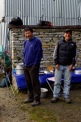 A Tour Guide and a Sherpa (David J. Greer) Tags: travel nepal mountain trekking trek walking landscape hiking walk hike explore guide himalaya sherpa annapurna sanctuary