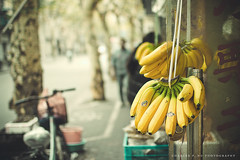 307.365 - Banana Republic (Chalres Wonderland*) Tags: life street people bike fruit 35mm canon day banana 365 moment fruitstand canonef35mmf14lusm 60d