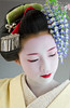 Takahina with Fuji Kanzashi (John Paul Foster) Tags: portrait beautiful beauty yellow japan female dance kyoto asia fuji maiko geiko geisha kimono elegant ideas wisteria elegance hanamachi kanzashi apprenticegeisha gionkobu takahina