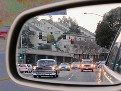 objects in the mirror... (Riex) Tags: auto california usa chevrolet car photoshop mirror wheels cruising voiture chevy american vehicle americana rearview retroviseur miroir californie vehicule s95 canonpowershots95
