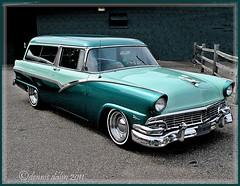 '56 Ford Parklane......{EXPLORED}   Dec. 14 2011 (novice09) Tags: ford 1956 parklane carshow stationwagon