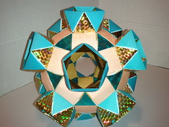 K5 Galaxy antiprisms1 (Origami Tatsujin 折り紙) Tags: blue art colors gold shiny geometry prism cupola papiroflexia papercrafts polyhedra modularorigami tomokofuse bluegold rhombicosidodecahedron geometricbeauty geometricart antiprism tetrahedralsymmetry beautifulorigami squareflatunit regularhexagonalflatunit k5galaxystewarttoroid papercraftssquareflatunit kunikokasahara triangleflatunit regularhexagonalunit