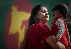 Celeberating Victory Day,TSC Dhaka,2011 (Taste_of_Cherry) Tags: baby color smile campus children liberty happy war university december day child flag mother du victory 16 dhaka moment bangladesh tsc bengale
