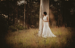 contemplative bride ({JO}) Tags: wedding tree gum bride lateafternoon gorgeousgoldenlight