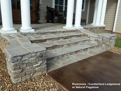 """Cumberland Ledgestone: river moss w flagstone steps • <a style=""""font-size:0.8em;"""" href=""""http://www.flickr.com/photos/40903979@N06/6544138483/"""" target=""""_blank"""">View on Flickr</a>"""