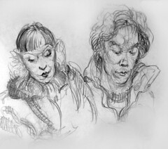 Winter Commuters (artsentinel) Tags: portrait portraiture figuredrawing sketchbookdrawings citypeople portraitdrawing artisticanatomy subwaysketches urbansketchers urbansketcher newyorkcitycommuters subwaysketcher keithgunderson subwaysketchers