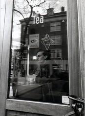(BW//) Tags: reflection amsterdam analog 35mm 1999 melancholy ragazzo minoltaxgm onfilm mopzoetelief